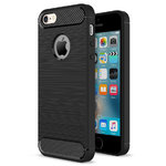Flexi Carbon Fibre Tough Case for Apple iPhone 5 / 5s / SE - Brushed Black